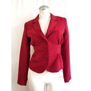 Cache Size 2 Red Blazer Jacket